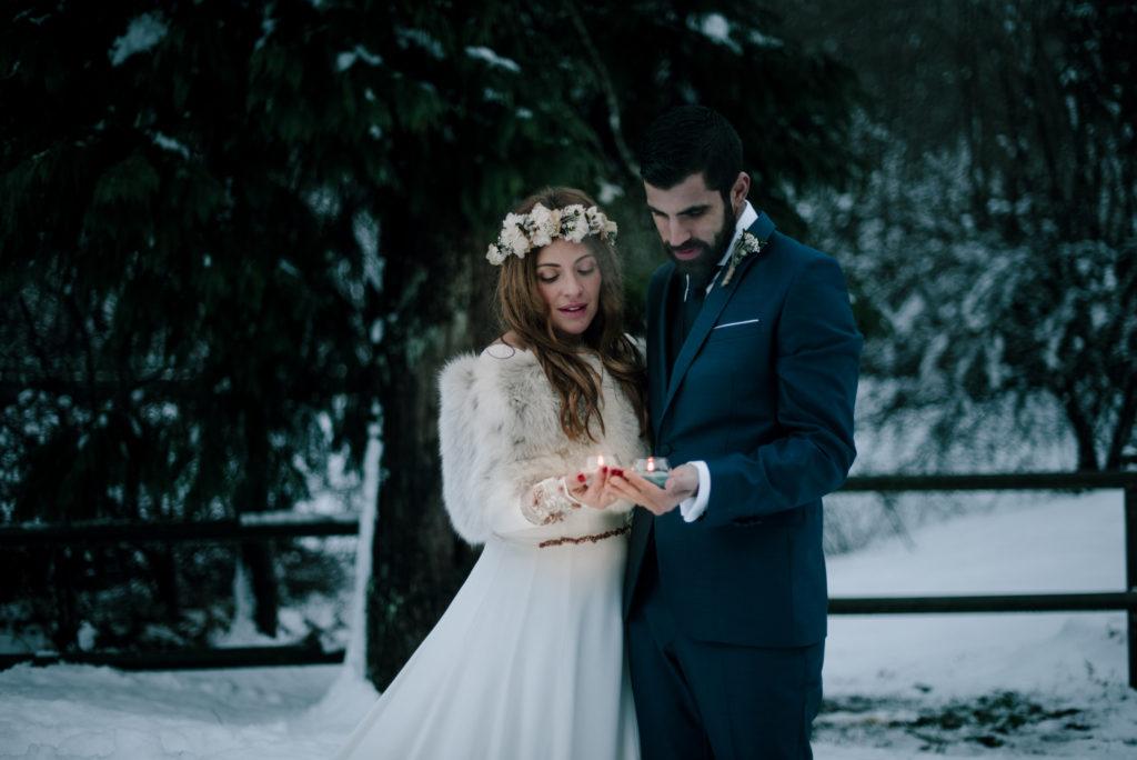 postboda en la nieve Tania y Rober 11 - Postboda en la Nieve del Valle de Arratia
