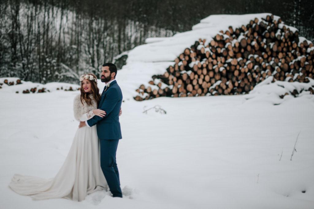 postboda en la nieve Tania y Rober 2 - Postboda en la Nieve del Valle de Arratia