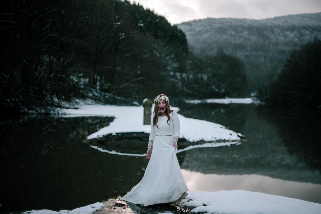 postboda en la nieve Tania y Rober 6 - Postboda en la Nieve del Valle de Arratia