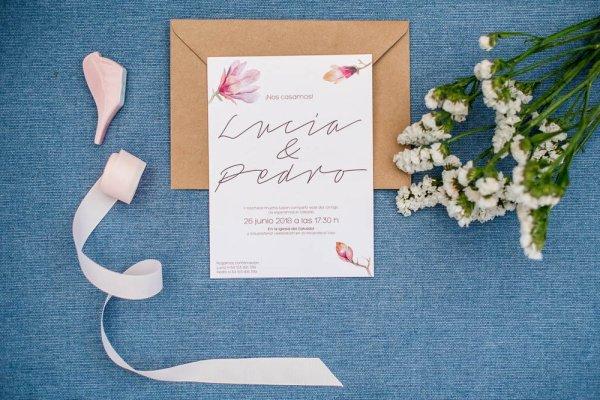 Invitación Magnolia kraft - Invitación de Boda Magnolia
