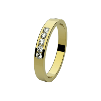 alianza de oro barato de Joyas Hada