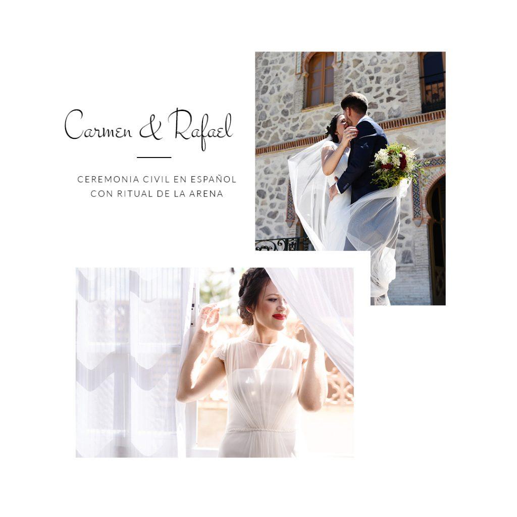 Carmen y Rafael Reseña - Oficiante de Bodas Sevilla (Diana Lacroix)
