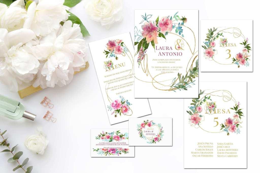 Colección Flower Gold 2019 - Papelería para Descargar: Flower Gold y Botanic Gold