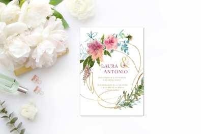 Invitación de boda descargable y personalizable