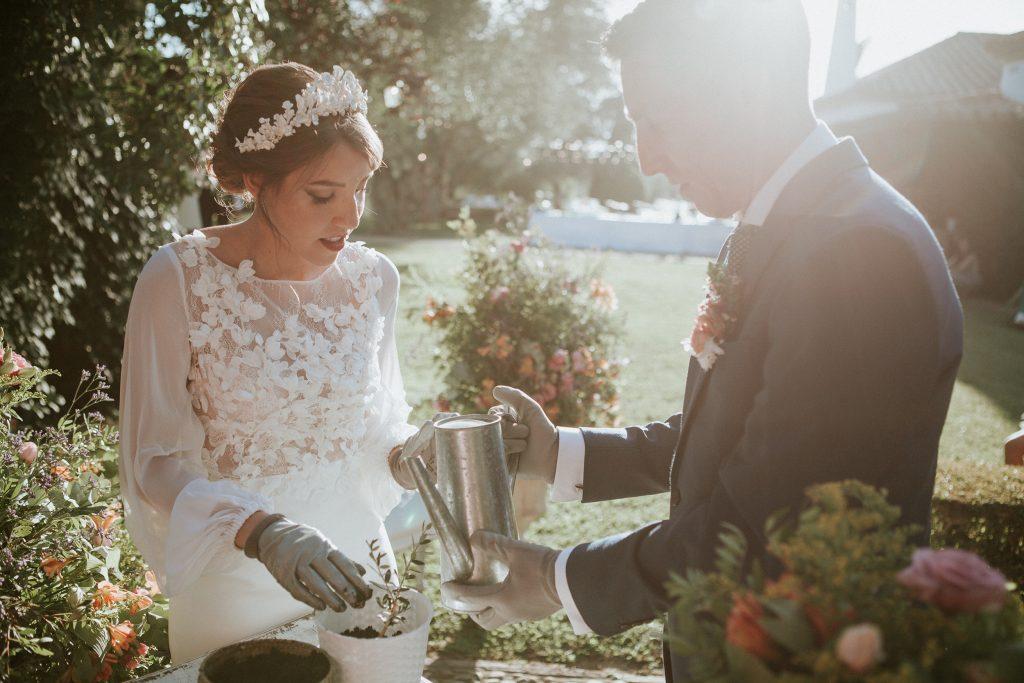 Bilingual Wedding Celebrant in Spain, planting tree ceremony