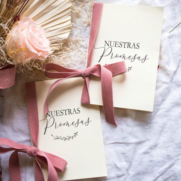 libreta para promesas boda