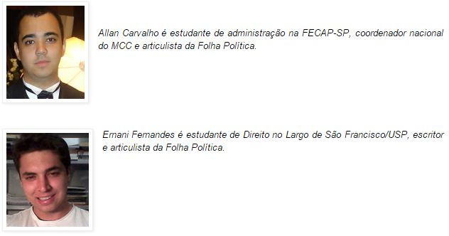 """Ernani e um de seus colaboradores do """"Folha Política"""""""