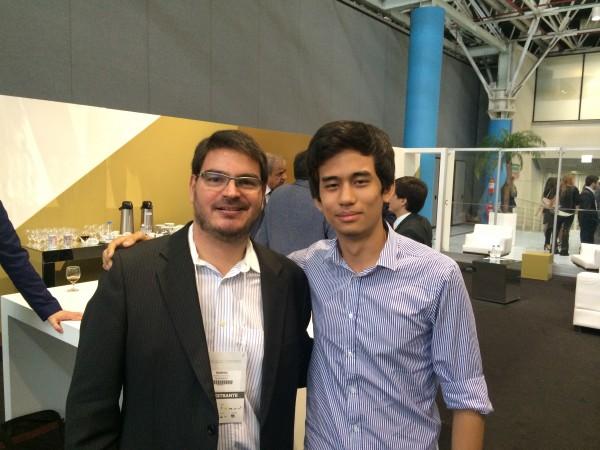 Constantino, da Veja, e Kataguiri, do MBL, no Fórum da Liberdade