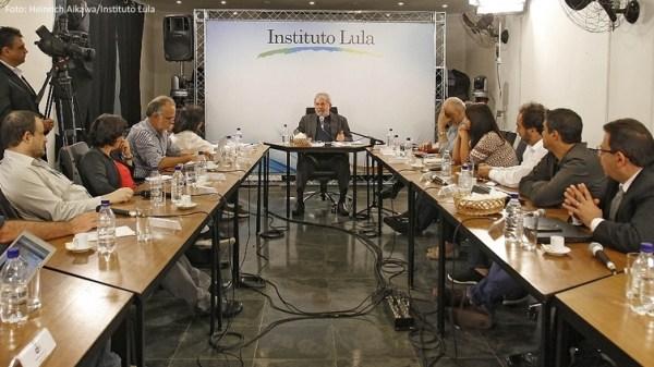 A entrevista no Instituto Lula
