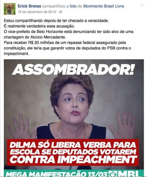 O meme contra Dilma e as observações de Bretas