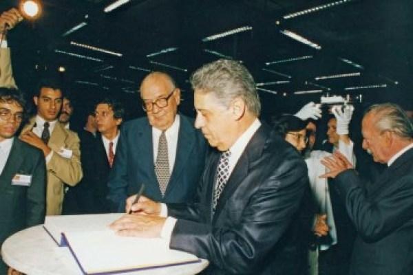 FHC com o banqueiro Olavo Setúbal