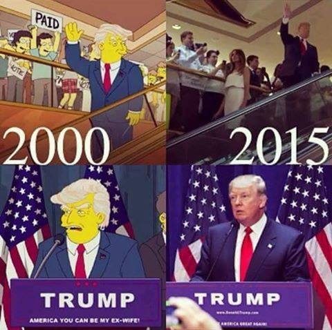 trump - simpsons