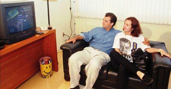 Cabral e a ex Susana, prima de Aécio, em tempos mais modestos