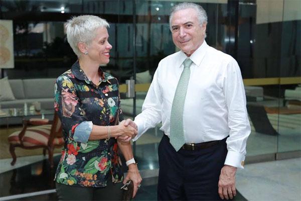 Resultado de imagem para temer e cristiane brasil