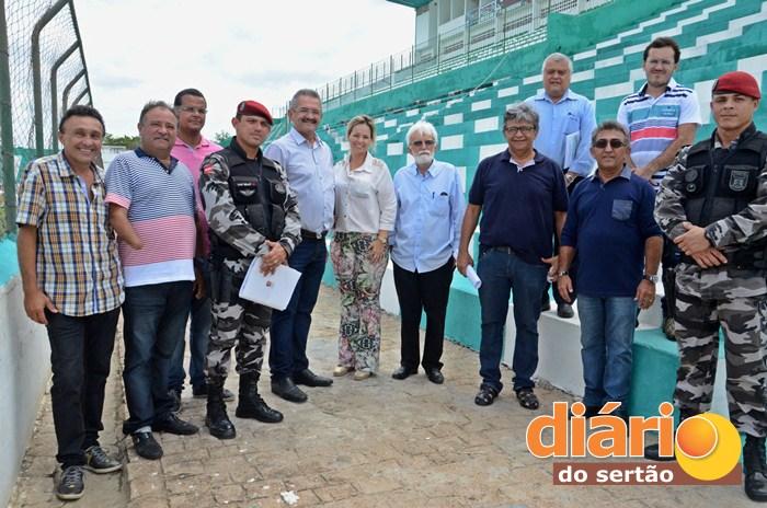 Vistoria foi realizada no Marizão em Sousa (foto: Charley Garrido)