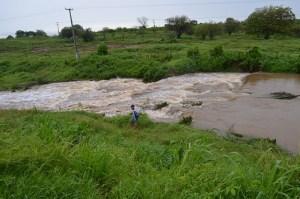A barragem Moreira também transbordou