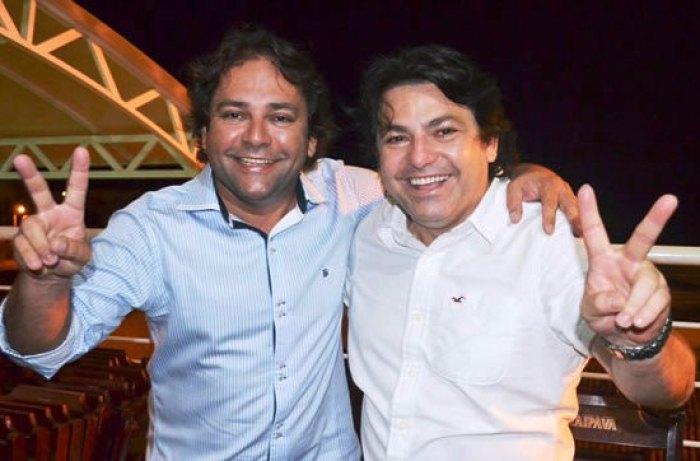 Ex-vereador Odair José ao lado do empresário Zenildo Oliveira (Foto: Ascom)