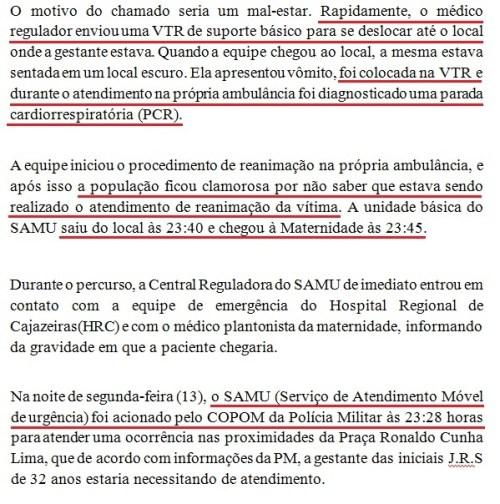 Trechos da nota da Secretaria de Saúde de Cajazeiras