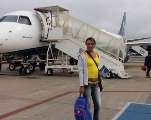 Joyce viajando para evento sobre LGBT