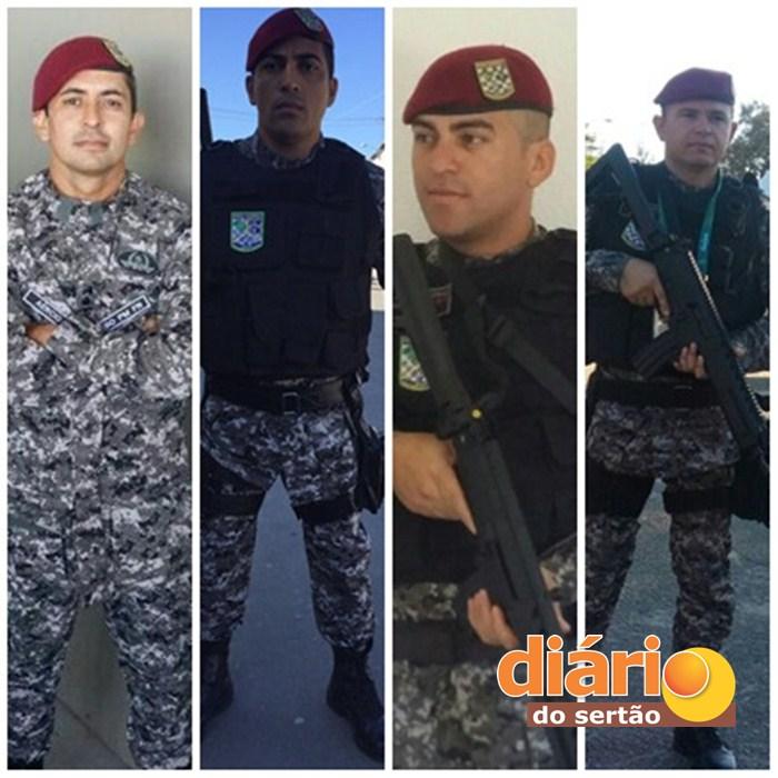 Policiais do 13º BPM enviados para o Rio de Janeiro (Foto: Reprodução)