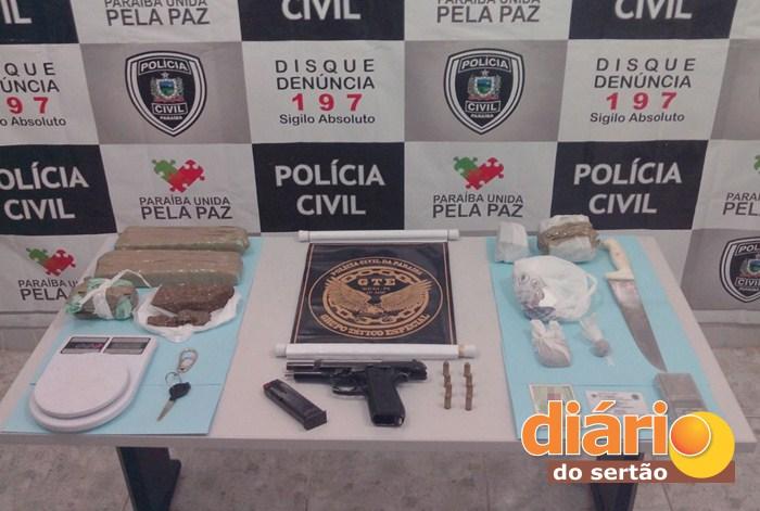 Material apreendido pelo GTE em Sousa (foto: polícia civil)