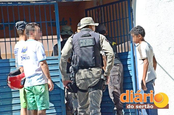 Polícia Militar foi acionada e esteve no local (foto: Diário do Sertão