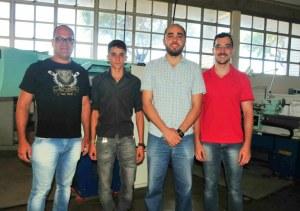 Da Esquerda: Heber, Lucas, André e Leandro.