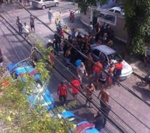 Briga entre torcedores de Fla e Bota (Foto: reprodução)
