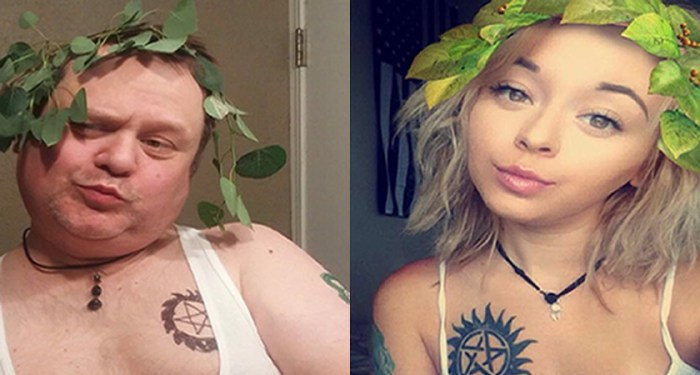 Pai imita fotos da filha e vira sucesso nas redes sociais (Foto: reprodução)