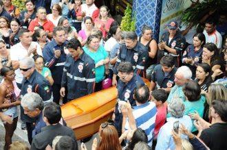 Homenagem do SAMU para condutor socorrista que morreu em acidente (foto: Patos Online)