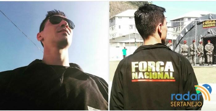 Sargento Ronivon Ferreira Dias atuando na Força Nacional de Segurança