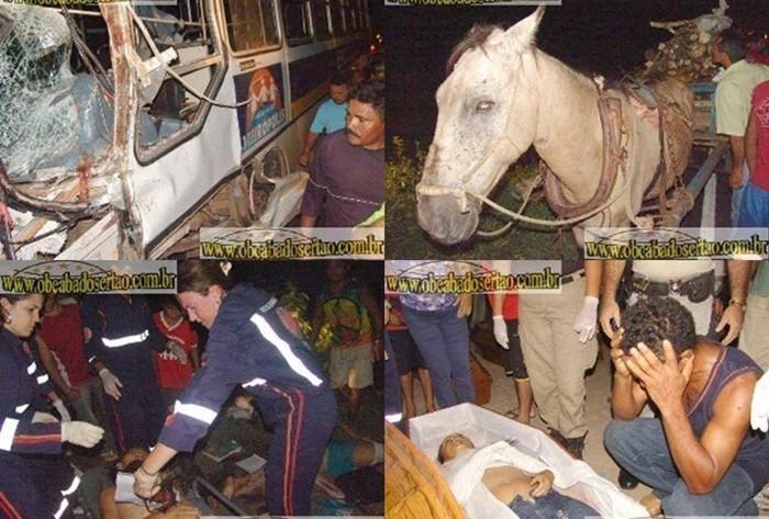 13 pessoas morreram no acidente registrado no dia 23 de maio de 2006 (Foto: obeabadosertão)