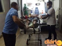 A confusão na cidade terminou com uma pessoa ferida e socorrida para o hospital