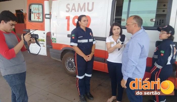 Equipe do Diário do Sertão acompanhou a fiscalização do COREN (foto: Charley Garrido)