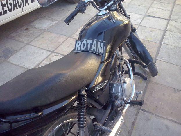 Moto recuperada em Cajazeiras (Foto Arquivo pessoal Cunha Rolim)
