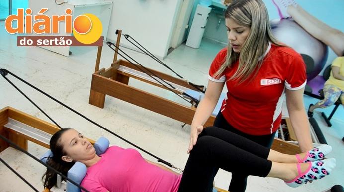 Estúdio de pilates no SESI em Sousa (foto: Charley Garrido)