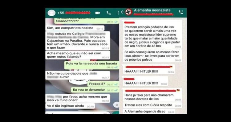 02c 2 825x435 - NEONAZISTAS EM CAJAZEIRAS: Pai de aluno envolvido em grupo de Whatsapp vai transferir filho de escola ameaçada- ENTENDA