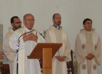 El Padre Pedro, en la misa celebrada ayer en Trenque Lauquen