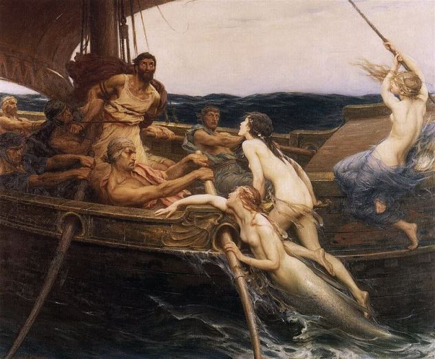 Image result for ulises y las sirenas Herbert James Draper