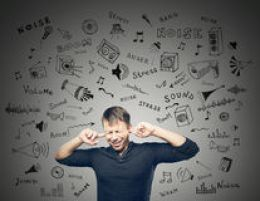 annoying-noise-young-man-closed-ears-grey-background-doodles-scetch-47614138