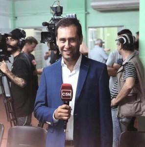 Claudio Cardoso está en la pantalla de C5N | Diario El 9 de