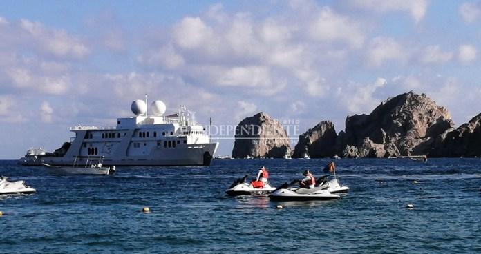 Mega yachts visit Cabo San Lucas bay