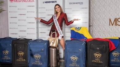 Photo of Mariángel Villasmil partió rumbo al Miss Universo