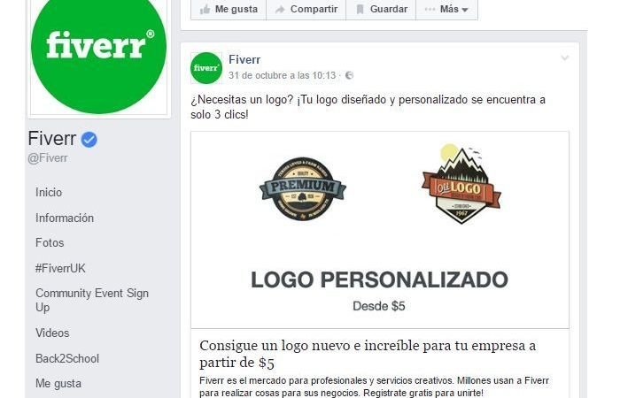 Logos baratos en Fiverr