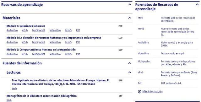 Campus virtual de la UOC - Recursos