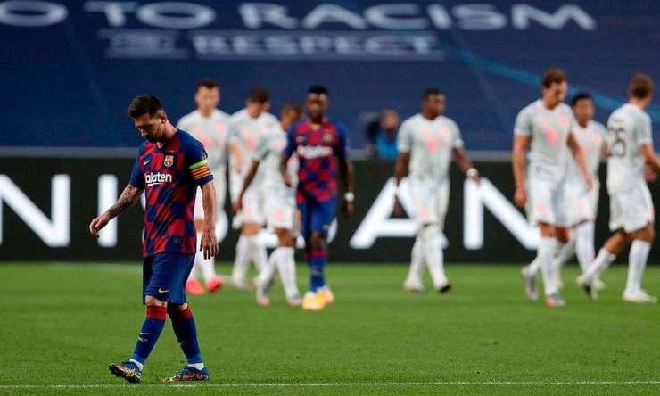 Leo Messi tras la derrota ante el Bayern de Múnich (8-2)