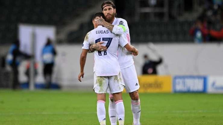 Lucas Vázquez y Sergio Ramos