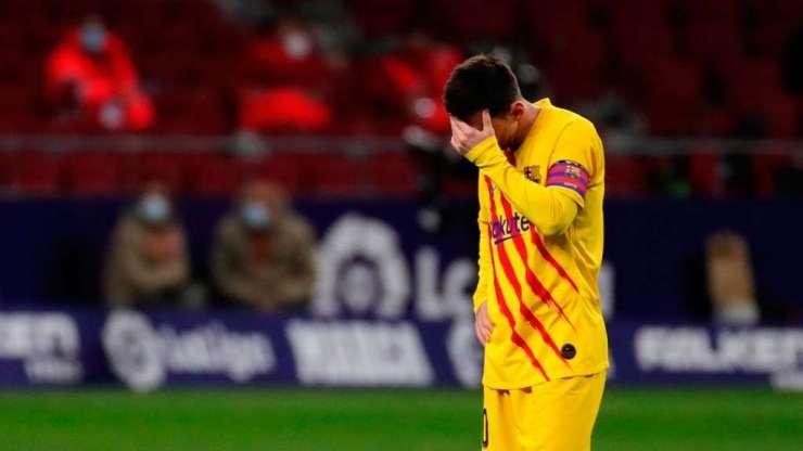 Leo Messi en el Atlético de Madrid-Barça