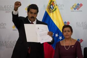 PODER ELECTORAL PROCLAMA A MADURO COMO GANADOR DE LAS ELECCIONES EN VENEZUELA