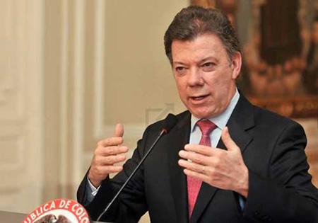 """""""Yo quiero aprovechar para agradecerles a los cuatro países que han venido participando y acompañando este proceso"""" , expresó el Presidente Colombiano"""